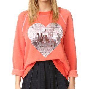 Wildfox Disco Heart Sweater L